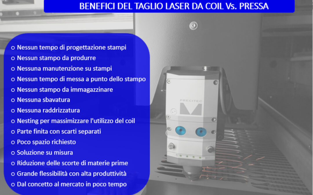 Le linee di stampaggio cedono il passo alla tranciatura laser da coil